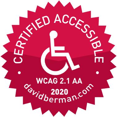 certified accessible WCAG 2.1 AA